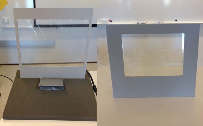 Forskjellige prototyper på touch-skjermer